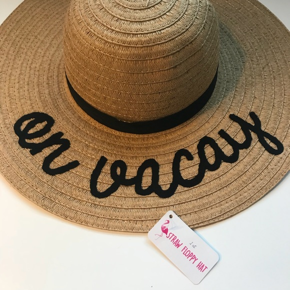75a1dc631 Floppy Straw Hat ON VACAY New 👒 NWT